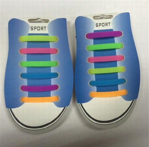Hot New Creative Lazy Shoe Lace Colorful Silicone Shoelaces No Tie V Tie Shoe Laces Dhl Free