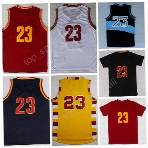 Lebron James 23 Throwback St. Vincent Mary High School Irish Movie Tunesquad Basketball Lebron James Jersey Red Blue White With Player Name