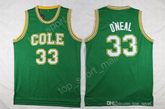 Men 33 Shaquille Oneal Basketball Jerseys High School Robert G Cole Lsu Tigers O Neal College Jersey For Sport Fans Free Shipping