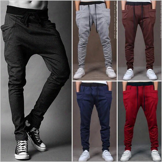 Men Joggers Sports Pants Fashion Sweat Pants Basketball Sport Jogging Pants Baggy Harem Pants Hip Hop Gym Jogger Dance Slacks For Boy
