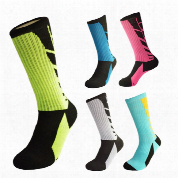 Men Sport Socks Elite Basketball Running Socks