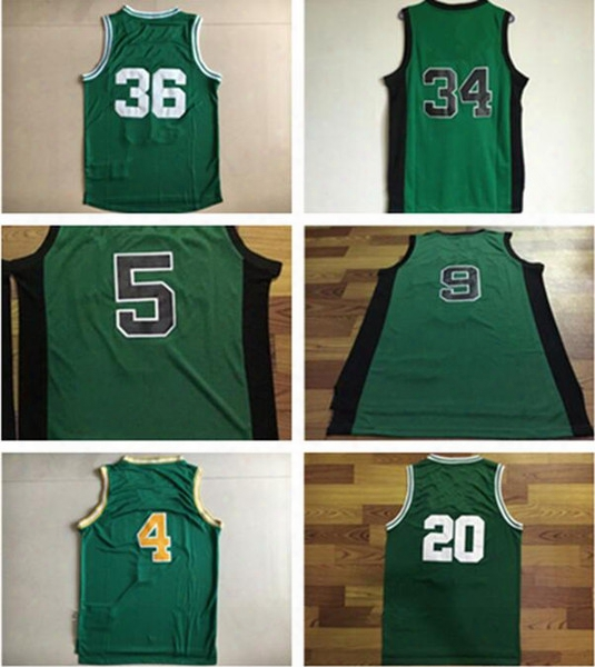 Men's Basketball Basketball Jerseys # 36 Marcus Smart # 34 Paul Pierce #5 Kevin Garnett # 9 Rajon Rondo #4 Isiah #20 Ray Allen Thomas Unseasoned
