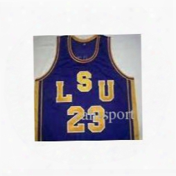 Men's Stitched Jersey #23 Pete Maravich Basketball Jerseys Lsu Tigers College Jersey White Purple Yellow Or Customize Any Number