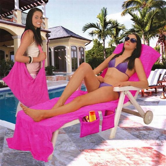 """Microfiber Fiber Sunbath Lounger Bed Mate Chair Cover Beach Towel Holiday Leisure Garden Beach Serviette 30"""" X 83"""""""