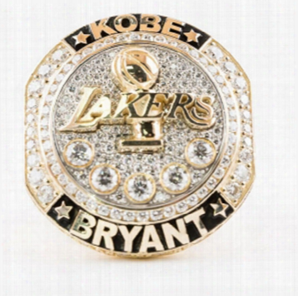 New Arrival Basketball Rings For Fans Collect Souvenirs 2016 Lakers Present Kobe Bryant With Retirement Replica Championship Ring