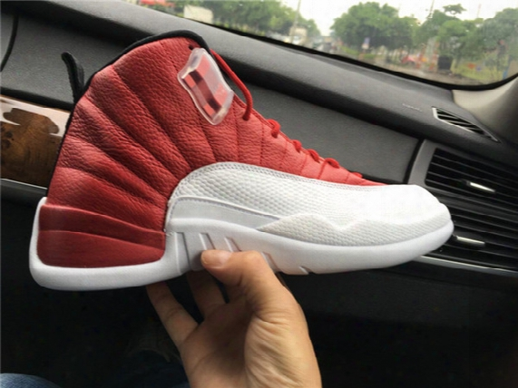 New Arrival Guarantee Men Retro 12 Gym Red Sneaker With Real Carbon Fiber Varsity Red/white 130690 600 Basketball Sneakers Size 41-47