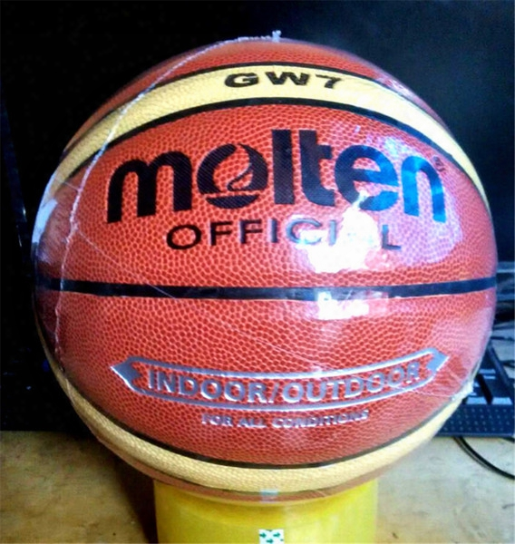 New Stigma Hight Qualitty Molten Gw7 Basketball Ball Pu Materiaofficial Size7 Basketball Free With Net Bag+ Needle+pump