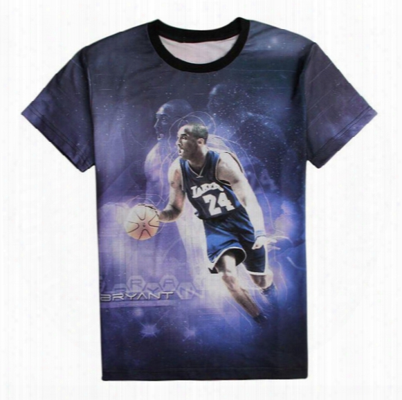 New Fashion 2016 Men's 3d Print Kobe Bryant Usa All-star Basketball Sports Game T-shirt Men Funny T Shirt Shirts Top Tees