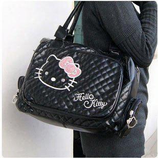 New Handbags Shoulder Bags For Women Hello Kitty White Tote/ Shoulder Bag Purse Pu Zipper Free Shpping Hk0012