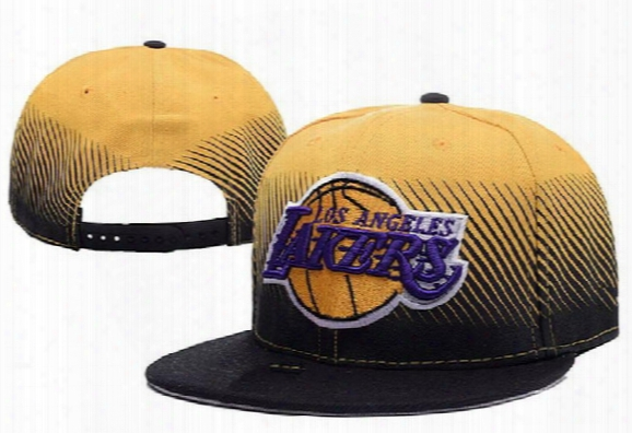 New High Quality Embroidery Snapbacks Adjustable Laker Hats Basketball Caps For Adult