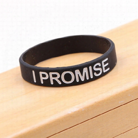 New I Promise Bracelet Basketball Sports Wristband Silicone Gym Fitness Power Bands Energy Bracelets For Man Women Jewelry Gift