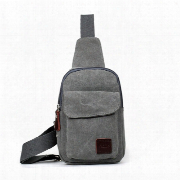 New Men Vintage Sing Shoulder Sling Cross Body Chest Canvas Backpack Bag Fashion Hiking Bicycle Casual Unbalance Backpack Messenger Handbag