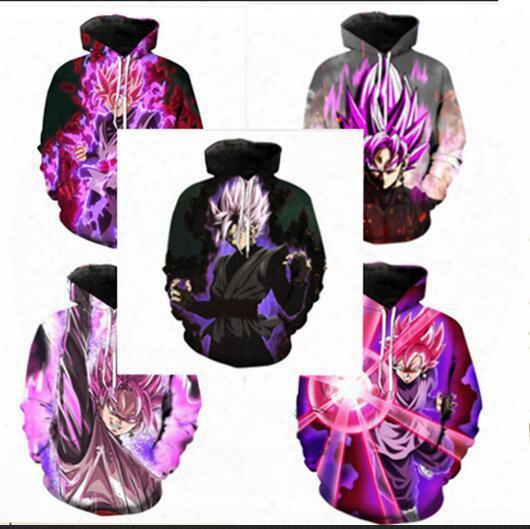 Newest Fashion Dragon Ball Z Hoodies 3d Printed Pullovers Sportswear Sweatshirts Dragonball Super Saiyan 4 Son Goku Black Zamasu Coat Outfit