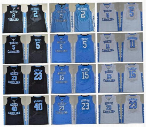 North Carolina Tar Heels College Jerseys Basketball 2 Joel Berry Ii 5 Marcus Paige 15 Vince Carter 11 Brice Johnson 40 Harrison Barnes