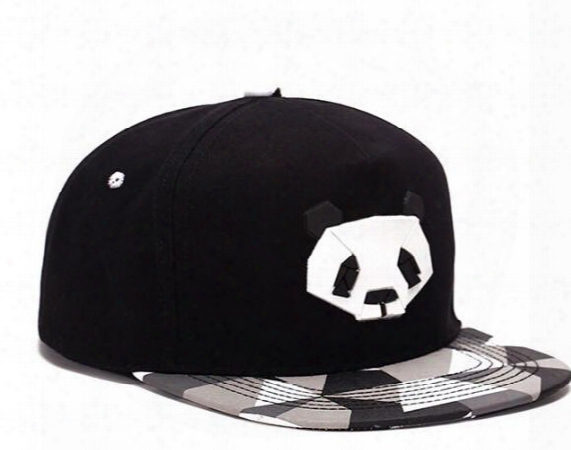 Popular Lovely China Panda Snapback Caps Adjustable Basketball Snap Back Hats Black Hip Hop Snapbacks High Quality Players Sports