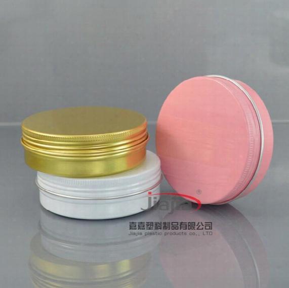 Silver Black Gold White Pink Red Aluminum Container Candle Holder Aluminum Jar 10g 30g 50g 60g 80g Cream Cans Round Tin Aluminum Cream