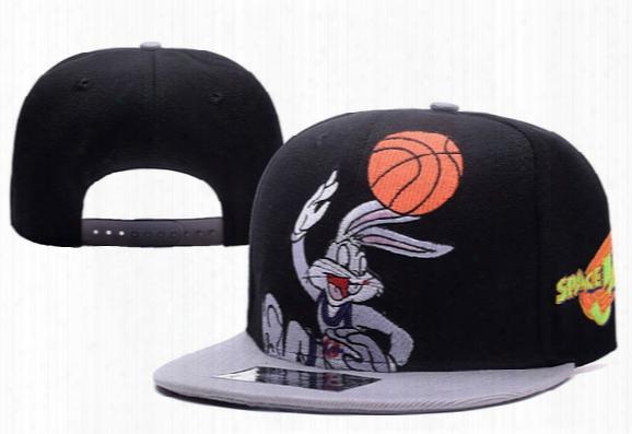 Spacejam Snapback Hats Vtg 90's 1996 Space Jam Looney Tunes Basketball Snapback Og Hip Hop 6 Panel Hat