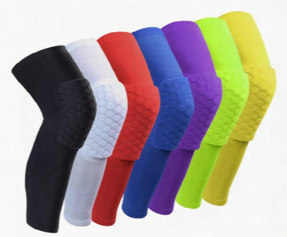 Sport Safety Football Volleyball Basketball Kneepads Tape Elbow Tactical Knee Pads Calf Support Honeycomb Knees Protectgear Breathable Honey
