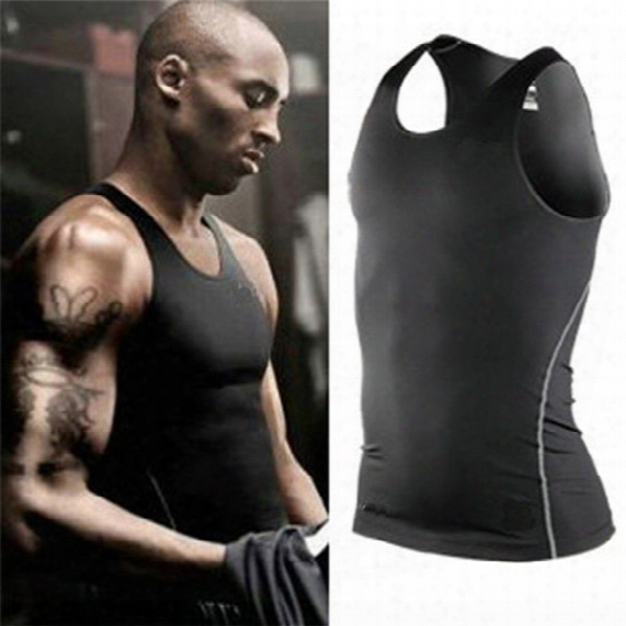 Sports Training Pro Commpression Tights Vest Men Quick Dry Training Running Basketball Vest Sports Gym Clothing