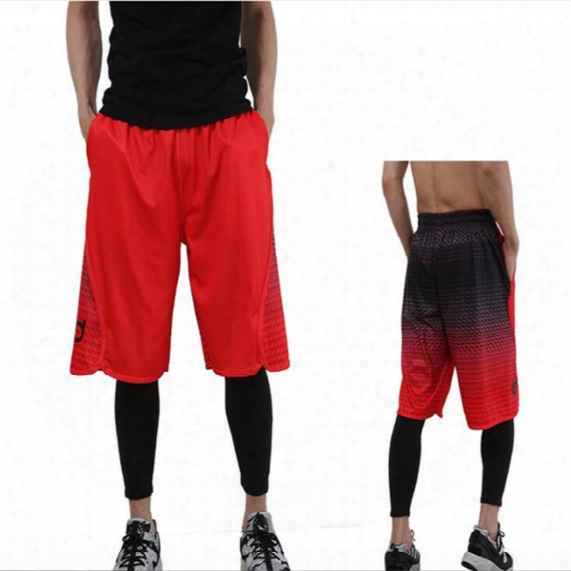 Summer Men's Beach Pants Casual Pants Loose Fitness Five Points Sports Basketball Pants Differentiation Printing Elite Shorts