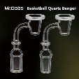 4MM Thick Quartz Banger Nail Domeless Basketball Styled 10mm,14.4mm 18.8mm male female for bongs at mr dabs