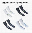 Newest logo mountain bike arm sleeve cycling arm warmers basketball arm sleeve manguito bike accessories uv arm protection