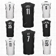 Printed 11 Brook Lopez Jersey Men Sport 6 Sean Kilpatrick 7 Jeremy Lin Basketball Jerseys 35 Trevor Booker Black White Color High Quality