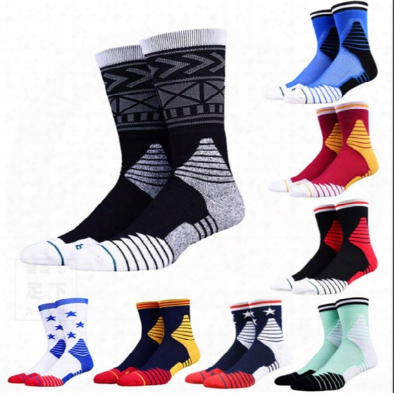 Usa Professional Basketball Socks Sports Socks 2017 New Comfortable Embroidery Of Color Cotton Socks Young Man