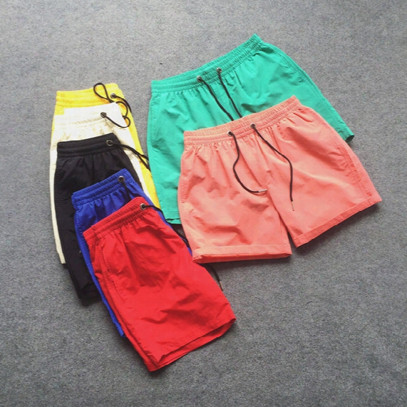 Wholesale-2016 Summer Style Men Basketball Sport Shorts Candy Color Quick Drying Short Beach Shorts Casual Shorts Masculino 7 Colors Ch040