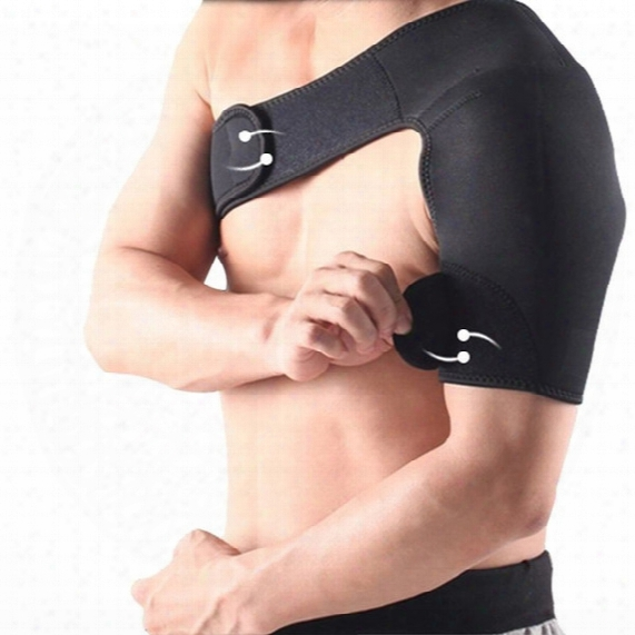 Wholesale-adjustable Elastic Shoulder Support Brace Basketball Arm Sleeve Men Safety Sports Injury Guard Posture Corrector Back Protector