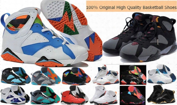 Wholesale Cheap Retro 7-8-11-12-13 Men Basketball Shoes Sneakers High Quality Men Women Retro 7 Vii Basketball Shoes Outdoor Training Shoes