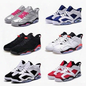 Wholesale Free Shipping Retro Outdoor Light And Smart Men Basketball Shoes Mens Retro 6s Shoes Low Sports Shoes High Men Shoes All Sizes
