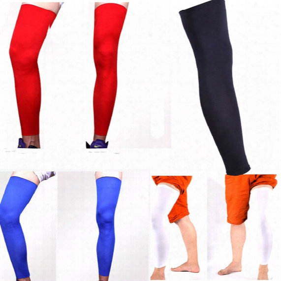Wholesale- Good Quality Knitted Basketball Cycling Men Women Leg Warmers Elastic Stretch High Socks Skinny Stockings Sports Leg Sleeve