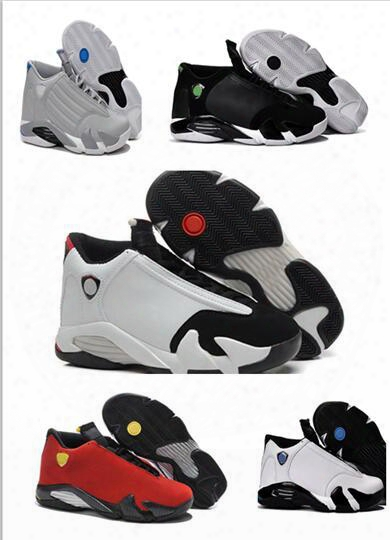 Wholesale Hot Sale Retro 14 Men Basketball Shoes 14s Red Suede Blue Black And White With High Quality Sport Sneakers Free Shipping