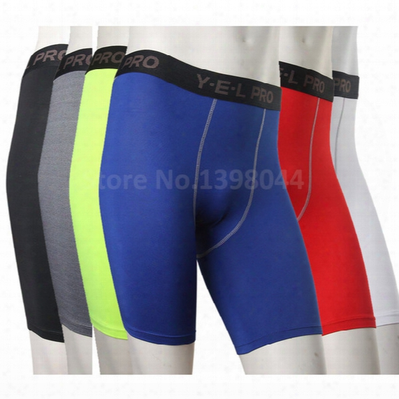 Wholesale-men Base Layer Cycle Tight Short Pants Skin Compression Sports Running Basketball Soccer Fitting Exercise Shorts Boxer 1034