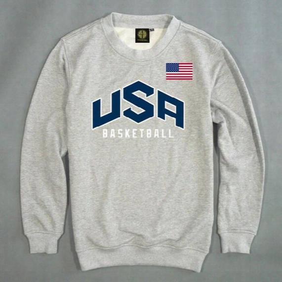 Wholesale-men's Pullover Usa Basketball Dream Team Sweatshirt Solid Color Casual Men's Long Sleeve Sweatshirt Team Usa Basketball