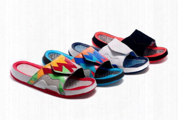 Wholesale New Hydro Vii Massage Retro 7 Slippers Hare 7s Sports Men Women Basketball Shoes Red Casual Shoes High Quality Size 36-47