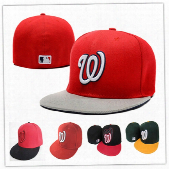 Wholesale Online Shopping Washington Nationals Street Fitted Fashion Hat W Letters Snapback Cap Men Women Basketball Hip Pop