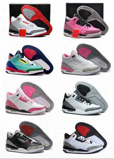 Wholesale Retro Mj 3 Women Basketball Shoes Online Cheap Discount Originals Quality Sneaker Us Size 5.5-8.5 With Aaaa Quatily Free Shipping