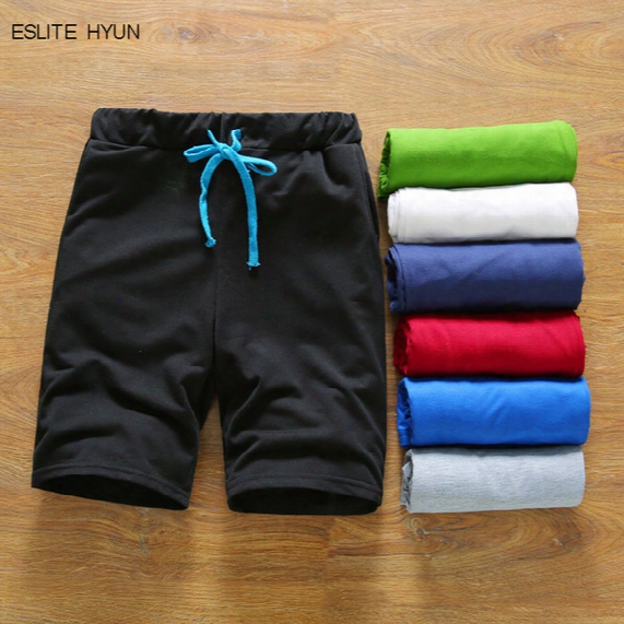 Wholesale-shorts Summer 2016 Mens Solid Bermuda Sport Basketball Short Gym Men Brand Homme Running Surf Lacing Shorts M-3xl