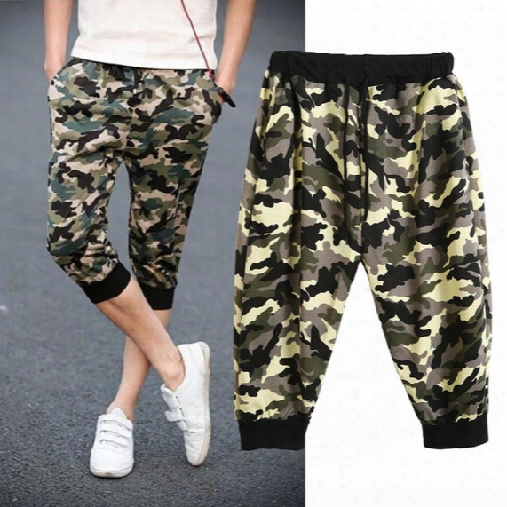 Wholesale-sports Mens Basketball Cropped Camouflage Drawstring Beach Trousers Shorts Homme Short Pants Casual Gym Wear Running Shorts Y3