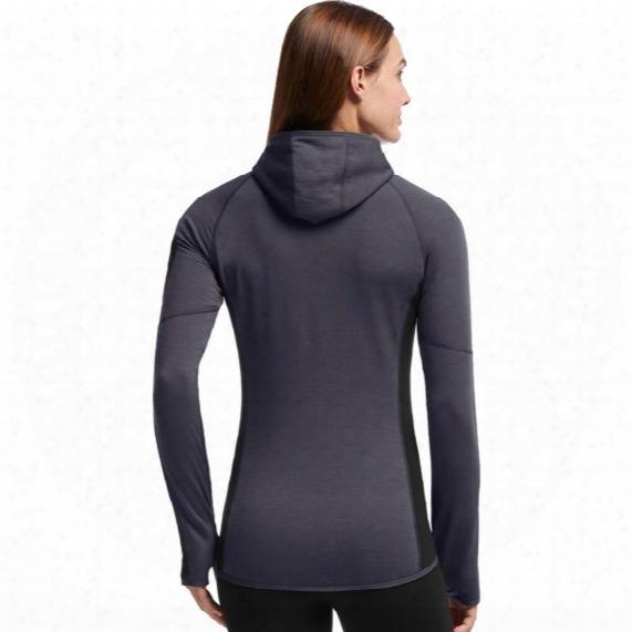 Atom Long Sleeve Half Zip Hood - Womens