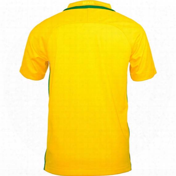 Brazil Cbf Stadium Away Youth Soccer Jersey