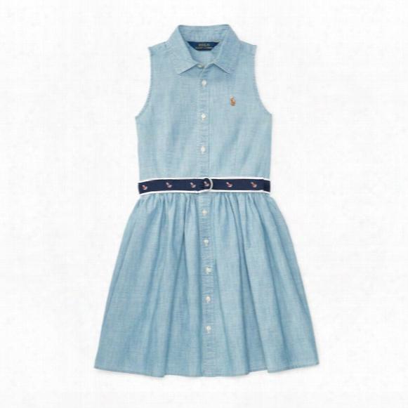 Chambray-shirtdress - Girls