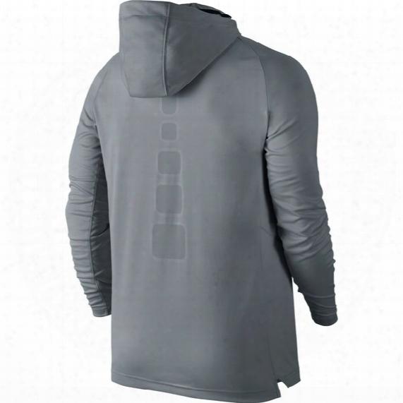 Elite Hooded Shooter Basketball Long-sleeve Shirt - Mens
