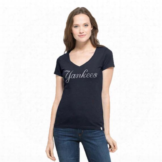 New York Yankees Flanker Mvp V-neck T-shirt - Womens