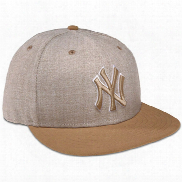 New York Yankees Heather League Basic 59fifty Fitted Cap - Mens