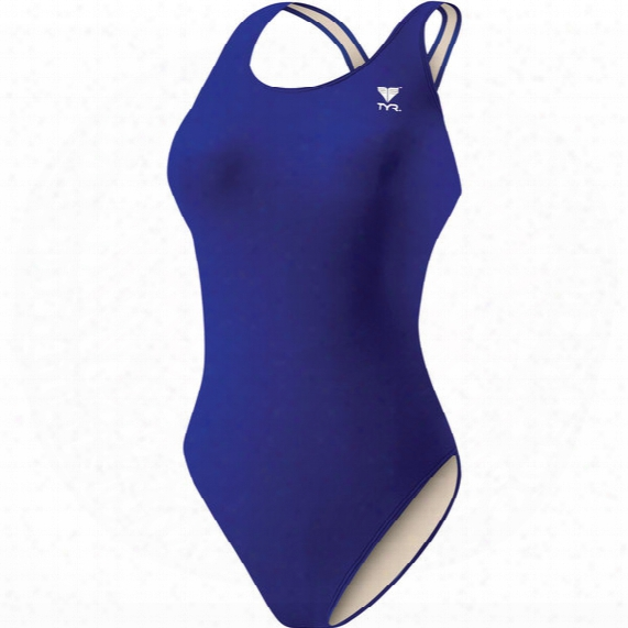 Solid Lycra Maxfit Swimsuit - Womens