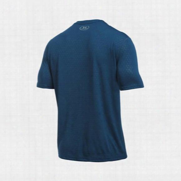 Ua Threadborne Siro Embossed Short Sleeve Shirt � Mens