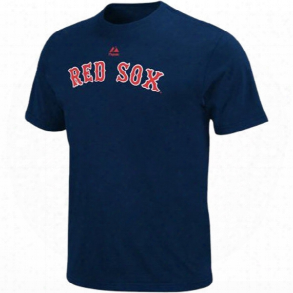 Boston Red Sox Mlb Navy Cooperstown Wordmark T-shirt